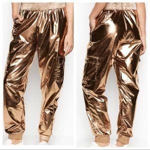 Victoria's Secret Sport Metallic Gold Joggers